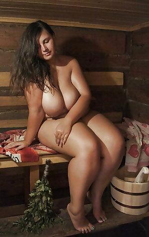 Mature Naked Sauna