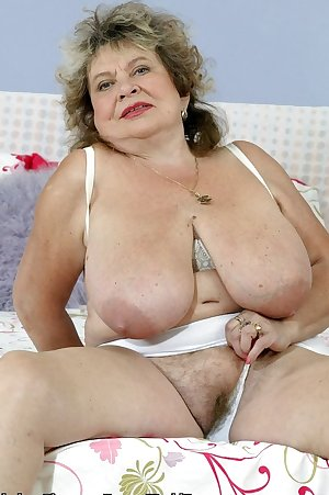 70 year old granny Agnes has monster tits