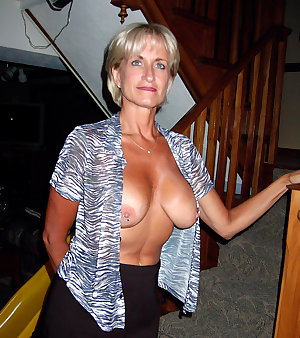 Sexy mom in glasses takes two
