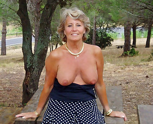 Shaved mom fucked outdoors