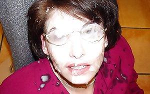 Matures Grannies Facials Collection