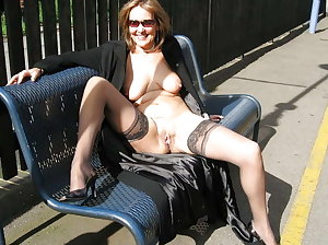 Out in the sun again - my huge tits and bare pussy shining in the sun - my pussy ring shining and my pussy lips spread f