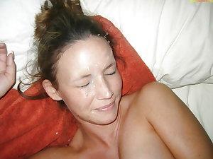 Milf and mature blowjobs and facials 10