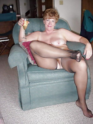 Dressed and undressed mature milf