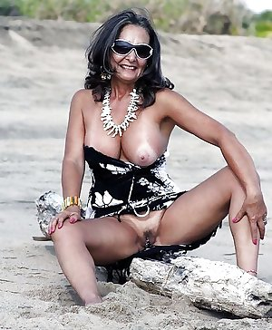 Only the best amateur mature ladies at the beach 9.