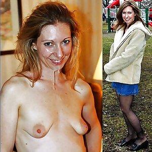 Mature milf dressed undressed 4