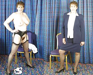 Dressed and undressed matures