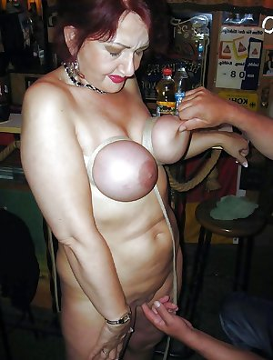 BDSM Mature + BBW tit and nipple torture 02