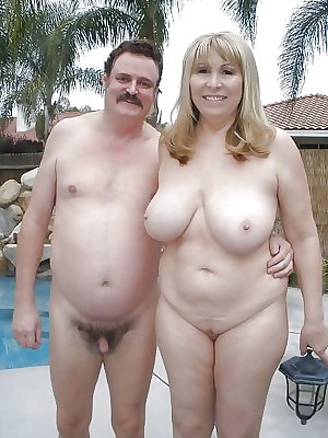 naked mature aunt on the beach