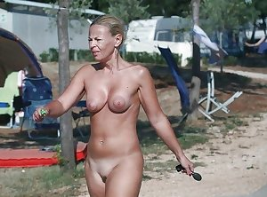 Only the best amateur mature ladies at the beach 13.