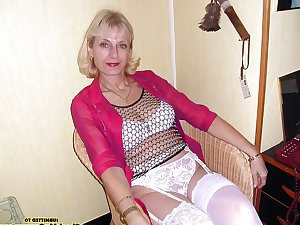 Only the best amateur mature ladies wearing white panties.1